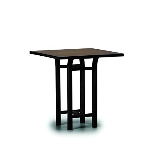 (Greenington G0019BL Tulip Counter Height Table, Black Walnut)