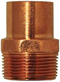 "3//4/"" Copper Male Adapter Sweat Solder Joint C x MIP Bag of 25"