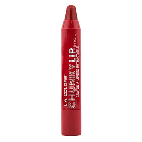 L.A. Colors Chunky Lip Pencil, Deep Red, 0.04 Ounce