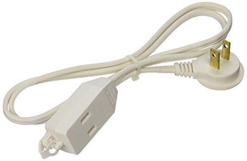 Cord Ext Indr Slm 16/2x3ft Wht