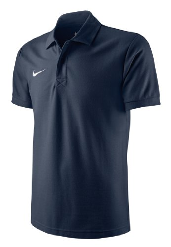 Nike Herren Poloshirt TS Core, obsidian/white, Gr. M, 454800-451