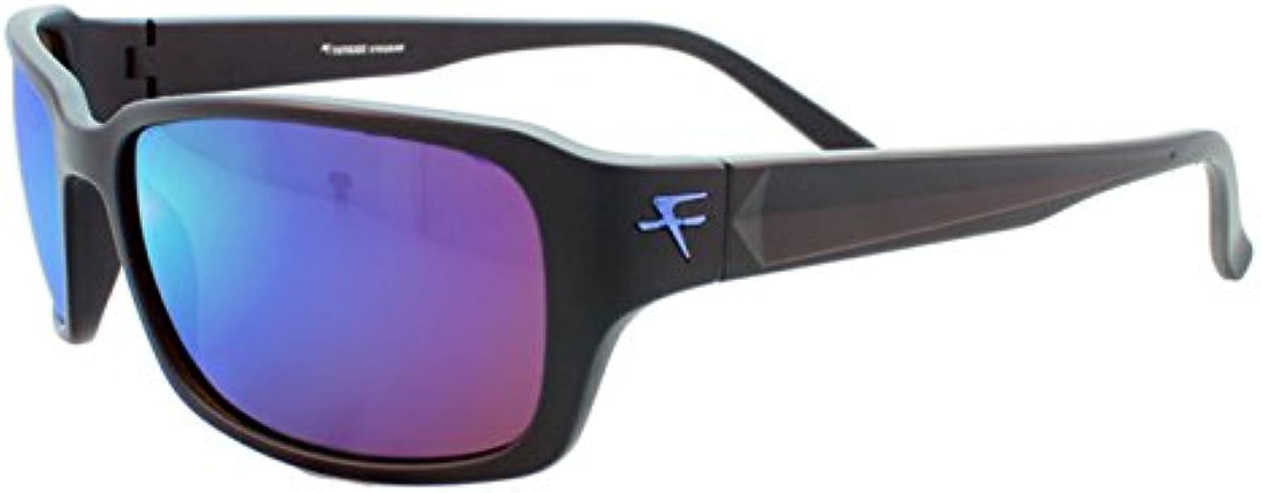 f85f211f52 Fatheadz Eyewear Men s Jaxon V2.0 FH-V124-1BL Polarized Rectangular  Sunglasses