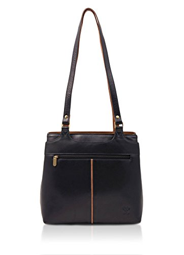 Bag mbrn Leather Navy Colourblock Shoulder Zipped qX6Hxft