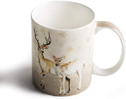 Deer in the Woods White Mug