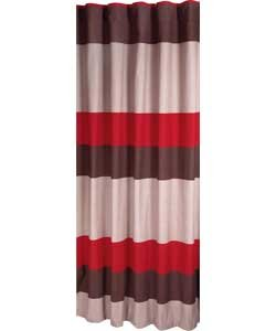 Banded Red Stripe Curtains