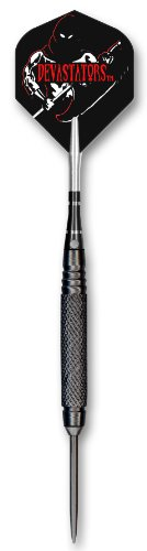 Bottelsen Hammer Head Steel Tip 95% Tungsten Devastators Black Steal 9/32-Inch Diameter Coarse Knurl Dart, 25 Gram