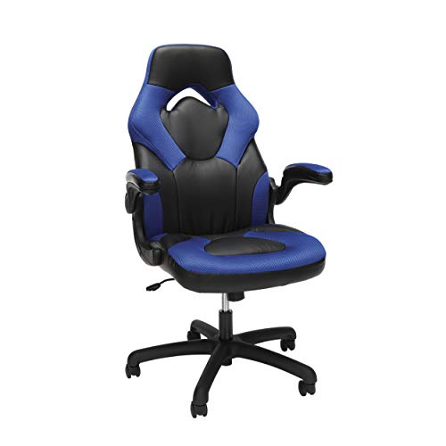 yle Leather Gaming Chair - Ergonomic Swivel Computer, Office or Gaming Chair, Blue (ESS-3085-BLU) ()