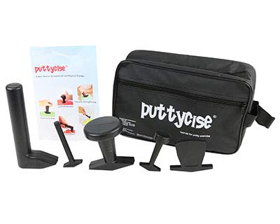 DSS Puttycise Theraputty tool - 5-tool set (Knob, Peg, Key and Cap turn, L-bar), with bag by DSS