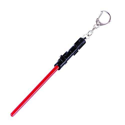[CG Costume Star Wars Lightsaber KeyChain Key Ring Alloy Black] (Womens Material Pop Star Costumes)