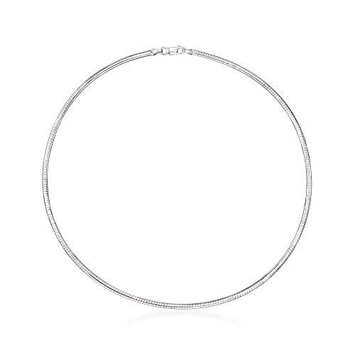 Ross-Simons 2.5mm Sterling Silver Round Omega Necklace ()