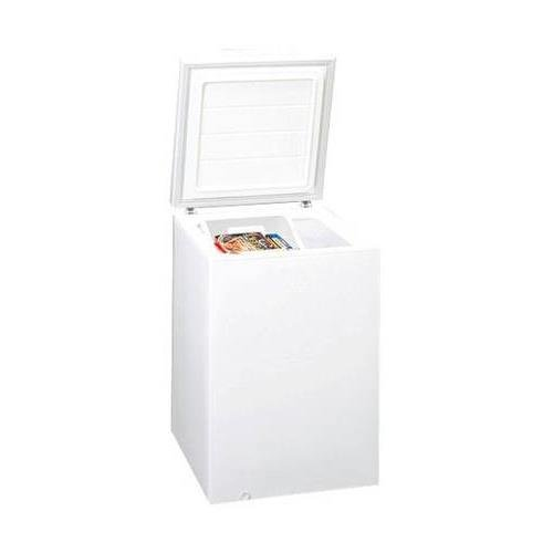 WCH05 24 Chest Freezer with 5.3 cu. ft. Capacity Adjustable Thermostat Counter-balanced Hinges Storage Basket and One Piece Interior Liner in White by Summit
