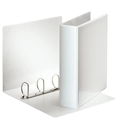 Amazon.com : Esselte Presentation Ring Binder Polypropylene 4 D-Ring 50mm A4 White Ref 49705 : Office Products