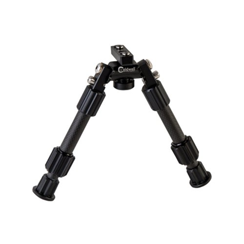 Caldwell Accumax Carbon Fiber M-Lok KeyMod Bipod with Twist Lock Quick-Deployment Legs for Mounting on Long Gun Rifle for Tactical Shooting Range and Sport - Carbon Fiber Twist