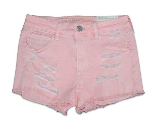 American Eagle Women's AE Peach Denim Super Stretch X High Waisted Shortie Shorts (6) (Women Short Eagle American)