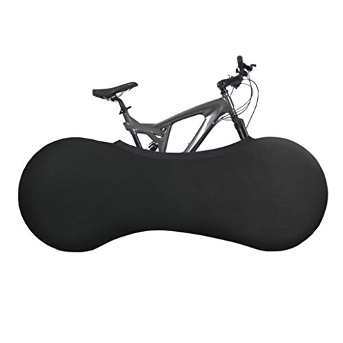 Indoor Mountain Bike Cover Bicycle Storage Cover Wheel Pant Chains Garage (Black) (Wheel Pants)