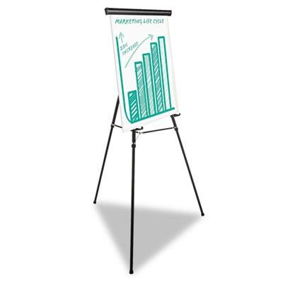 Universal One - Heavy Duty Presentation Easel 69'' Maximum Height Metal Black ''Product Category: Presentation/Display & Scheduling Boards/Easel Stands''