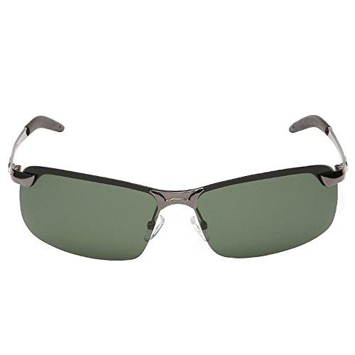 Cool Green pour Lunettes homme cyclisme de Randonnée Lens Frame pour Fashion polarisées Gun UV Lunettes conduite de Lunettes soleil Gris BrUqvrx5Ew