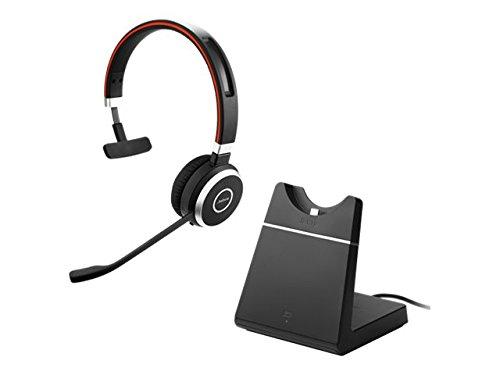 Jabra Evolve 65 Mono UC, Charging Stand & Link 370 - Professional Unified Communicaton Headset