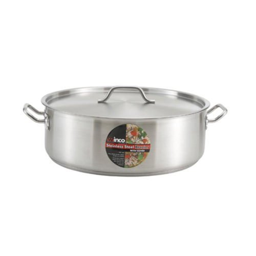 Winco SSLB-10, 10-Quart Premium Stainless Steel Induction Brazier by Winco