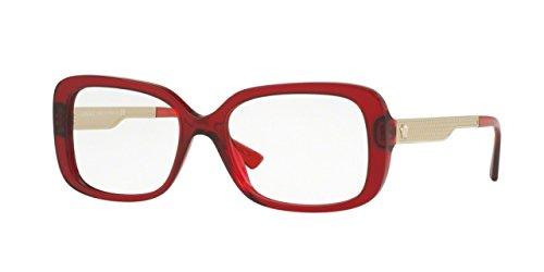 Versace VE 3241A 388 Eyeglasses Transparent Red - Frames Eyeglass Red Versace