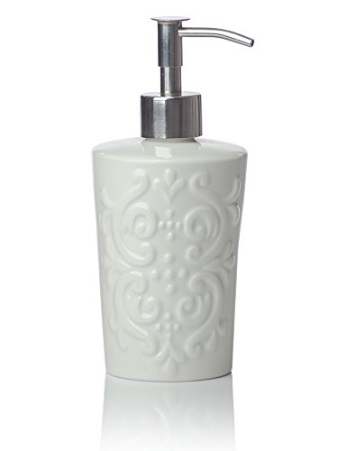 4 piece bathroom accessories set vintage damsk with - Anna s linens bathroom accessories ...