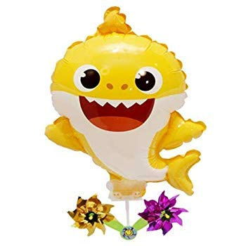 Pinkfong Baby Shark Balloon with Pinwheel Birthday Picnic Party Supplies