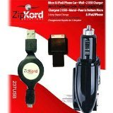 Zipkord 237Usb Retractable Micro Usb Charger For Smartphones   Retail Packaging   Black