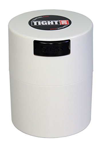 Tightvac - 1/2 oz to 3 ounce Airtight Multi-Use Vacuum Seal Portable Storage Container for Dry Goods, Food, and Herbs - White