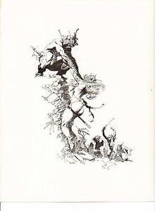 "1975 full Color Plate /"" The Fighting Men of Ugor/"" by Frank Frazetta Fantastic"