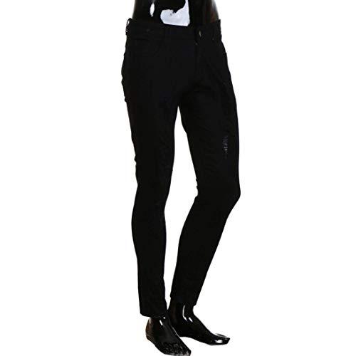 Slim Pantaloni Skinny Freddi Ragazzi Denim Stropicciati Elasticizzati Strech Casual Fit Strappati Jeans Nero Classiche Uomo zwqdEzU