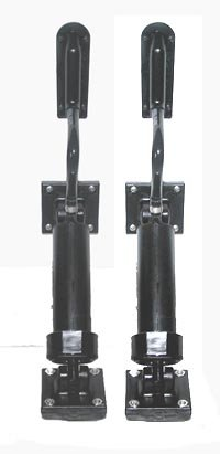 BOAT LEVELER INSTATRIM COMPLETE SET OF TWO CYLINDERS WITH HOSE CRIMPED ON WITH BOTH FEET ASSEMBLED WITH PIVOT PINS, trim rams, tilt cylinders, power trim rams, tilt power rams, power cylinders