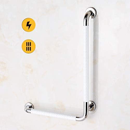ステンレス手すり、滑り止め付きバスルーム安全手すり、直角シャワーハンドル-高齢者/身体障害者