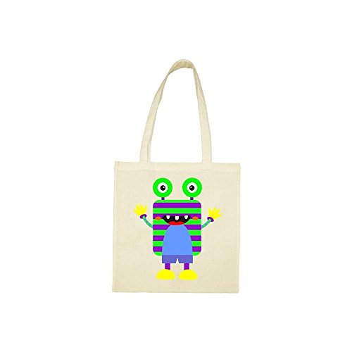 Tote bag Tote monstre beige raye raye bag beige monstre w4Bqdx