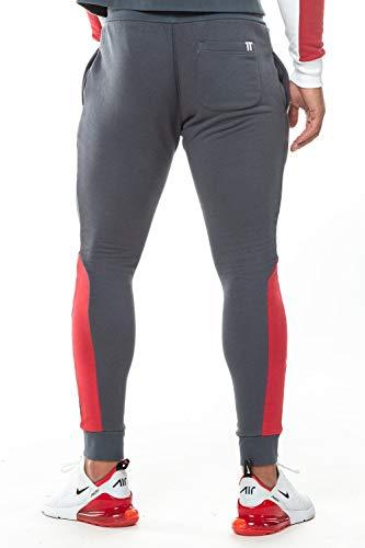 11 Degrees Pantalon Chandal Gris Claro Gym Skinny (XS): Amazon.es ...
