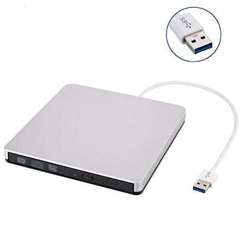 USB3.0 Pop-Up DVD Burner, 3Gbps Sata-2 Interface External Cd+/-Rw DVD +/-Rw Optical Drive, Apple MacBook, Ultrabook, Netbook and Laptop Universal