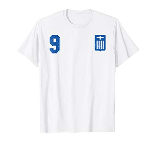 Retro Greece Football Jersey Greek Hellas Soccer T-Shirt 9