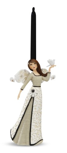 Ornament Angel Peace - Modele Peace Angel with Dove Ornament by Pavilion, 4.5-Inches Tall