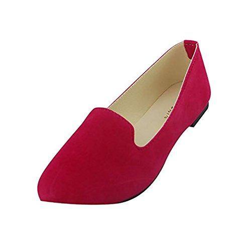 Bailarinas Plataforma Rosa Básicas Moda Sintética Planos Ocio Piel Mujer Zapatos de y 4xR5nUdw