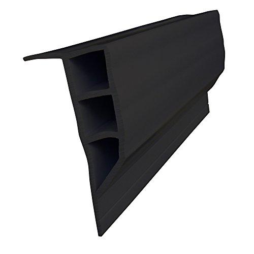 Dock Edge Full Face PVC Profile Dock Guard, Black, 16'