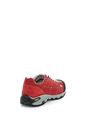 Scarpa da trekking in camoscio rosso N. 42