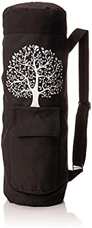 BalanceFrom GoYoga Full Zip Exercise Yoga Mat Bag with Multi-Functional Storage Pockets [Fits Both 1/2-Inch an