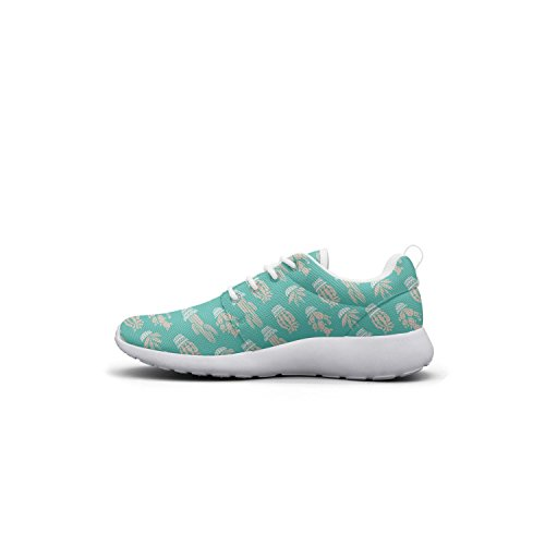 Cactus Blue Lightweight Shoes Cactus Mesh Hoohle Cute Sneakers chams Sports Fashion Lil Flex Roshe Pattern Womens 1 xwCqH6EwU