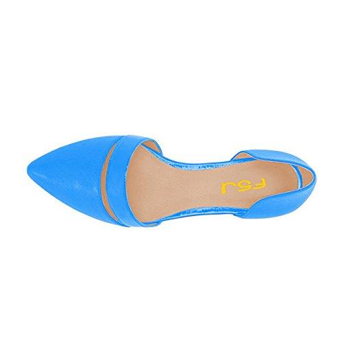 Fsj Vrouwen Schattige Dorsay Ballerinas Voor Comfort Wees Teen Lage Hakken Jurk Schoenen Maat 4-15 Ons Blauw
