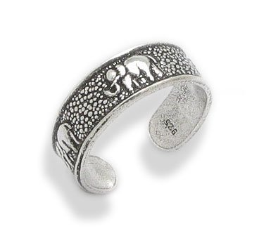 Antiqued Elephant Sterling Sil