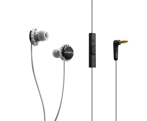 SOL REPUBLIC 1131-41 Relays 3-Button In-Ear Headphones - Black/White