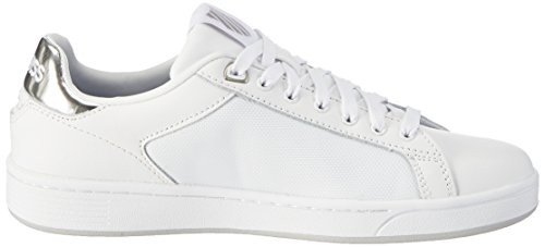 Cmf white Femme silver Basses Court 133 Blanc Sneakers swiss Clean K HYq8tt