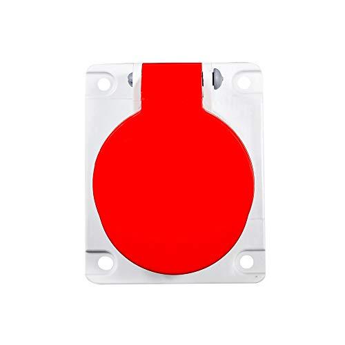 Tomada Embutir Newkon 380/440v 6h Ip44 Steck Vermelho 3p+t 16a
