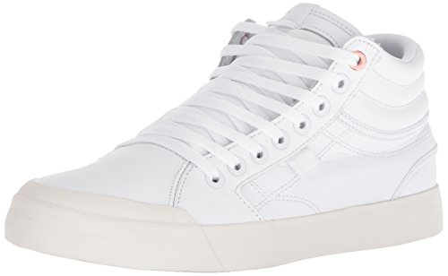 DC Women Evan HI LE Skate Shoe, White/White, 9 Medium US