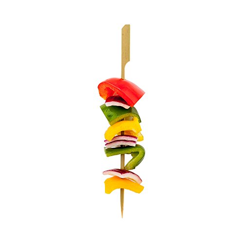 8-inch Bamboo Paddle Skewers: Perfect for Commercial and Backyard Grilling – Natural Color – 1000-CT – Biodegradable and Eco-Friendly – Restaurantware by Restaurantware (Image #6)