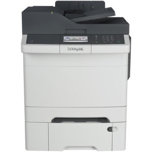 Lexmark CX410dte Color All-In One Laser Printer with 550 Sheet Tray, Scan, Copy, Network Ready, Duplex Printing and Professional Features